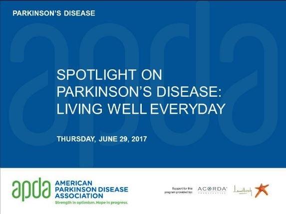 Spotlight on Parkinson's Disease: Living Well Everyday | APDA