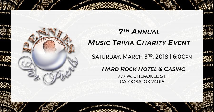 Pennies For Pearls - Music Trivia Charity Event - Saturday March 3rd 6:00pm