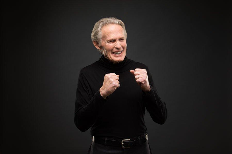 Older man with Parkinson's, still fighting