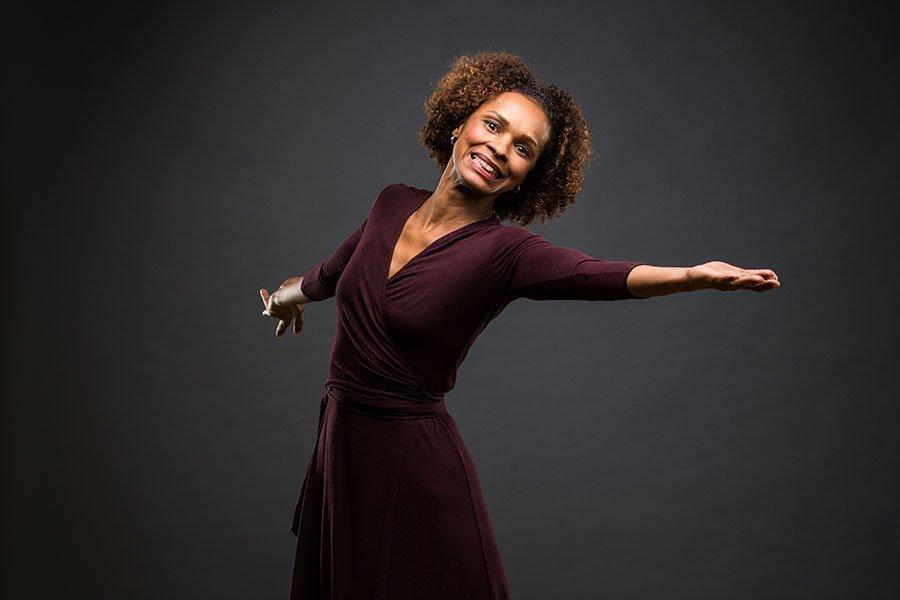 A woman dancing, she has Parkinson's