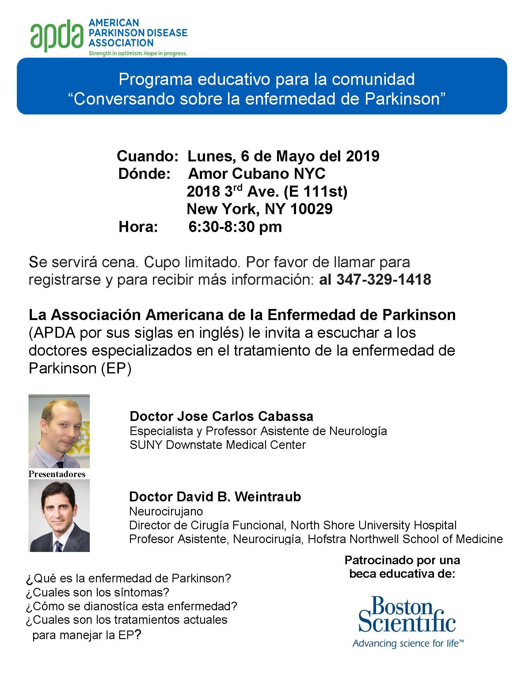 Spanish flier Manhattan program 5 6 2019 | APDA