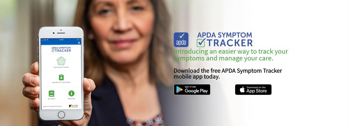 new apda symptom tracker app